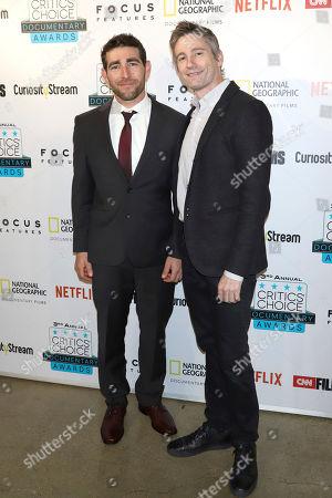 Brett Lowell, Josh Lowell. Brett Lowell, left, and Josh Lowell attend the third annual Critics' Choice Documentary Awards at BRIC, in New York