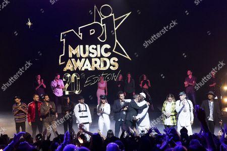 Florian Ordonez & Olivio Ordonez, Kendji Girac, Jenifer, Soprano, Amir, Black Eyed Peas (Apl.De.Ap, Jessica Reynoso, Will.I.Am, Taboo), Nikos Aliagas, Vitaa, Soprano, at the 20th NRJ Music Awards ceremony