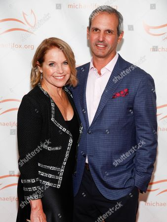 Katie Couric, John Molner. Katie Couric, left, and John Molner, right, attend the Michael J. Fox Foundation 2018 benefit gala at the New York Hilton Midtown, in New York