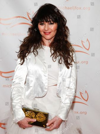 Frances Ruffelle attends the Michael J. Fox Foundation 2018 benefit gala at the New York Hilton Midtown, in New York