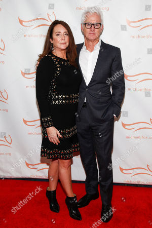 John Slattery, Talia Balsam. John Slattery, left, and Talia Balsam, right, attend the Michael J. Fox Foundation 2018 benefit gala at the New York Hilton Midtown, in New York