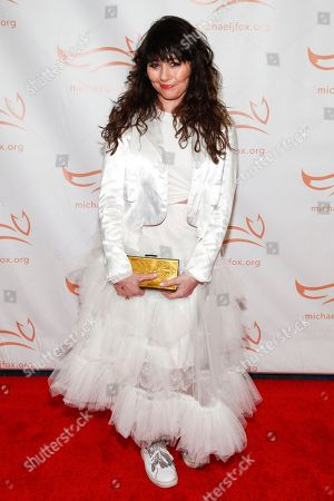 Stock Picture of Frances Ruffelle attends the Michael J. Fox Foundation 2018 benefit gala at the New York Hilton Midtown, in New York