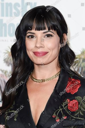 """Jenna Lyng Adams attends the world premiere of """"The Kominsky Method"""" during the 2018 AFI Fest at the Egyptian Theatre, in Los Angeles"""