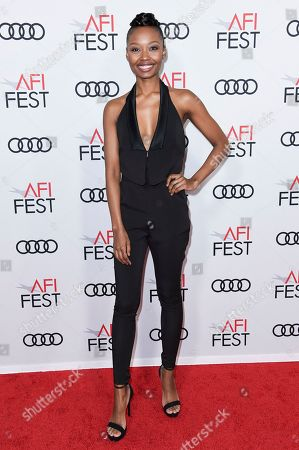 """Ashleigh LaThrop attends the world premiere of """"The Kominsky Method"""" during the 2018 AFI Fest at the Egyptian Theatre, in Los Angeles"""