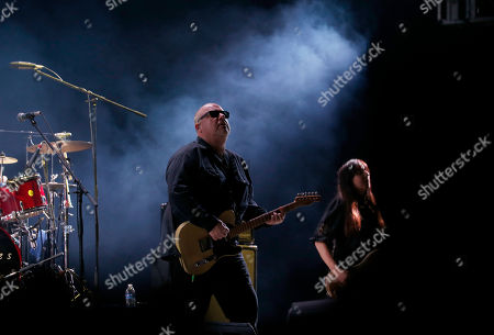 Back Francis, Paz Lenchantin. Black Francis, center, and Paz Lenchantin, right, of The Pixies perform with the band in Mexico City's main square, The Zocalo