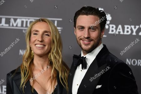 Sam Taylor-Johnson, Aaron Taylor-Johnson. Sam Taylor-Johnson and Aaron Taylor-Johnson attend the 2018 Baby2Baby Gala on in Culver City, Calif