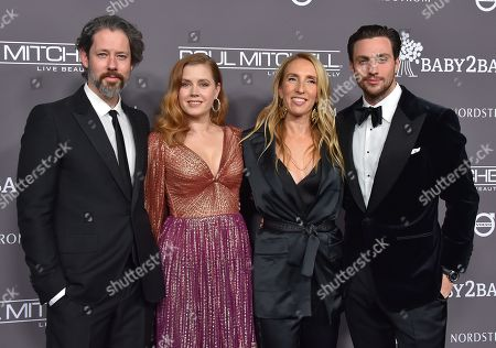 Darren Le Gallo, Amy Adams, Sam Taylor-Johnson and Aaron Taylor-Johnson