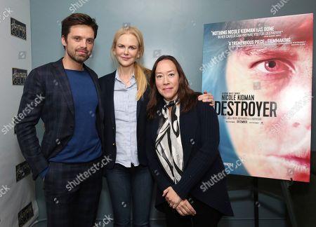 "Sebastian Stan, Nicole Kidman, Karyn Kusama. Sebastian Stan, Nicole Kidman and Karyn Kusama seen at the Annapurna Pictures ""Destroyer"" Special Screening, in Los Angeles"
