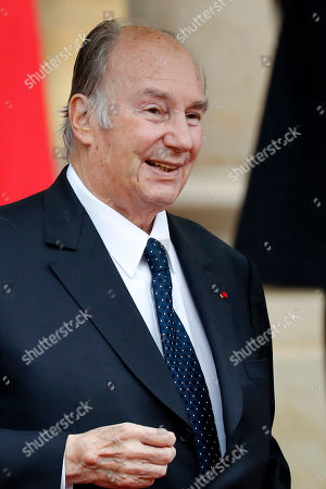 His Highness Prince Karim Aga Khan IV leaves the Elysee palace  after the official lunch after the international ceremony for the Centenary of the WWI Armistice of 11 November 1918, in Paris, France, 11 November 2018. Heads of State and Government commemorate the memory of their fallen soldiers in France. World leaders have gathered in France to mark the 100th anniversary of the First World War Armistice with services taking place across the world to commemorate the occasion.