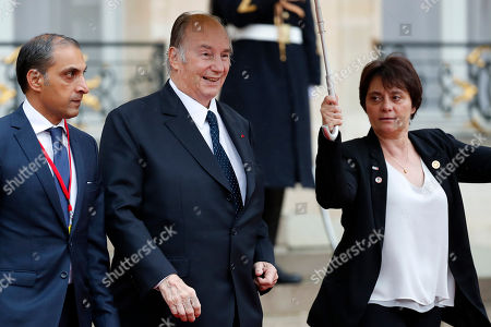 His Highness Prince Karim Aga Khan IV leaves the Elysee palace  after the official lunch after the international ceremony for the Centenary of the WWI Armistice of 11 November 1918, in Paris, France, 11 November 2018. World leaders have gathered in France to mark the 100th anniversary of the First World War Armistice with services taking place across the world to commemorate the occasion.