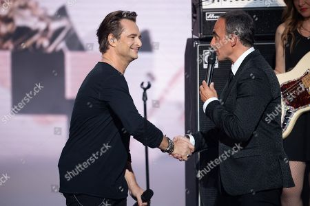 David Hallyday and Nikos Aliagas