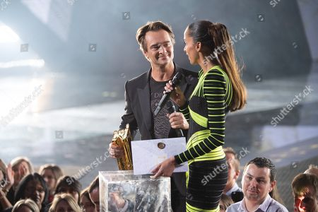 David Hallyday and Noemie Lenoir