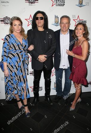 Shannon Tweed, Gene Simmons, LAPD Chief Michel Moore, Cindy Moore