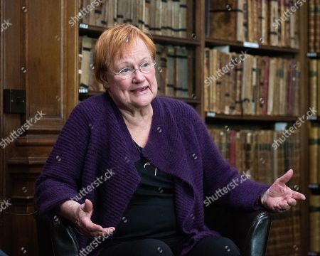 Editorial photo of Tara Halonen at the Oxford Union, UK - 10 Oct 2018