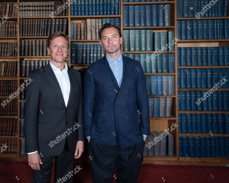 Jude Law and Jeremy Gilley, founder of non profit Peace One Day