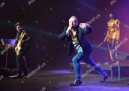Charlie Burchill, Jim Kerr and Sarah Brown of Simple Minds