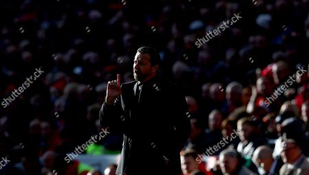 Fulham manager Slavisa Jokanovic gestures on the touchline