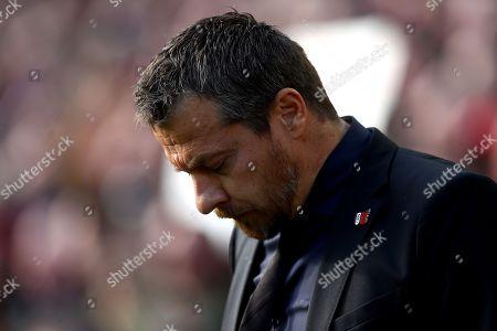 Fulham manager Slavisa Jokanovic shows a look of dejection