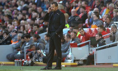 Fulham manager Slavisa Jokanovic shows a look of frustration
