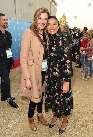 Brenda Strong and Alexandra Shipp attend the 2018 Napa Valley Film Festival Rising Star Showcase held at Materra Cunat Family Vineyards, Napa, California, USA - 10 Nov 2018