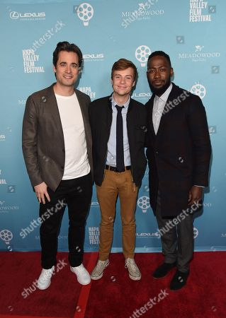 Stephan Paternot, John Karna, and Lamorne Morris attend the 2018 Napa Valley Film Festival, Festival Gala, held at CIA at Copia
