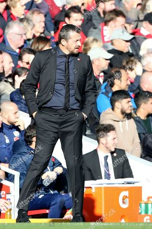 Fulham Manager Slavisa Jokanovic during the Premier League match between Liverpool and Fulham at Anfield, Liverpool