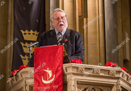 Terry Waite gives an address at The Royal British Legion Festival of Remembrance 1918-2018 at Bristol Cathedral.