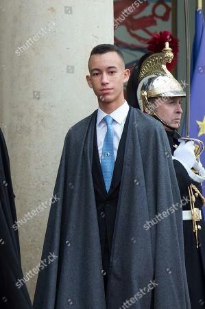 Prince Hassan bin Talal, son of King Mohammed VI of Morocco at Elysee Palace