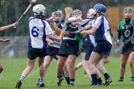 Clanmaurice vs Kilmessan. Clanmaurice's Jackie Horgan with Ailbhe Lynch, Aisling Walsh and Maeve Lally of Kilmessan