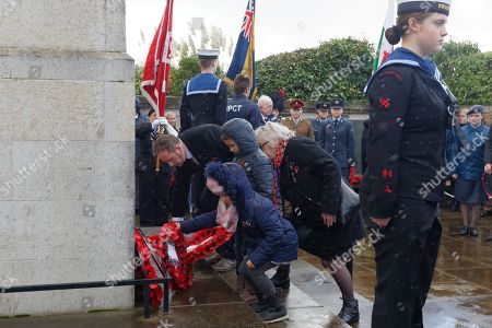 Editorial image of Remembrance Day, Swansea, Wales, UK - 11 Nov 2018