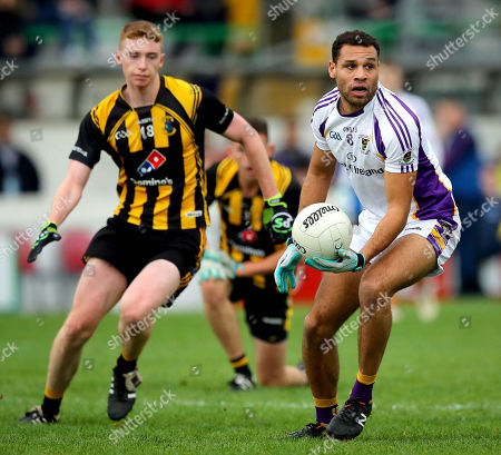 St. Peters Dunboyne vs Kilmacud Crokes. St. Peters' Jack Donnelly and Craig Dias of Kilmacud Crokes