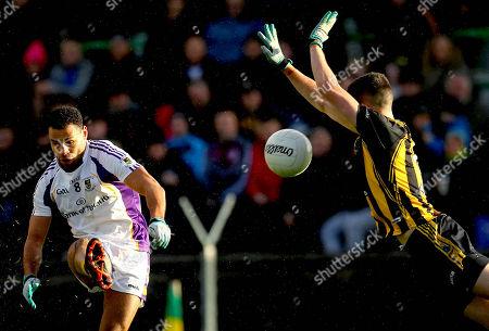 St. Peters Dunboyne vs Kilmacud Crokes. St. Peters' Shane McEntee and Craig Dias of Kilmacud Crokes