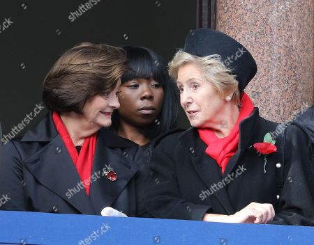Norma Major and Cherie Blair (left)