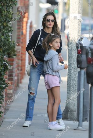 Alessandra Ambrosio and daughter Anja Louise Mazur
