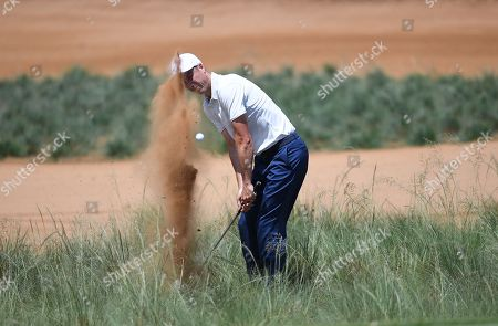 Ross Fisher on the 14 th green rough during The Nedbank Golf Challenge in Sun City, South Africa, 11 November 2018.