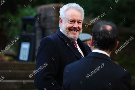 Carwyn Jones, First Minister of Wales arrives at Llandaff Cathedral