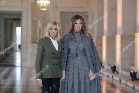 Brigitte Trogneux and Melania Trump