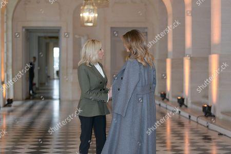 Brigitte Trogneux and and Melania Trump
