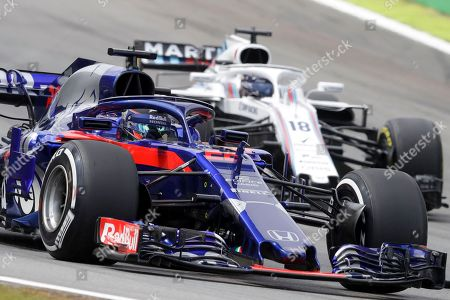 Toro Rosso driver Brendon Hartley, of New Zealand, steers his car during Brazilian Formula One Grand Prix at the Interlagos race track in Sao Paulo, Brazil