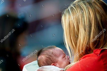 Luis Suarez wife Sofia Balbi with his baby son.