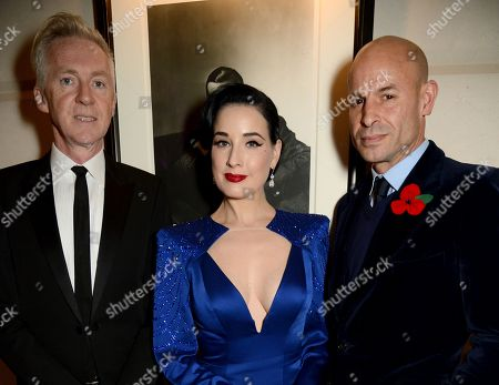 Stock Photo of Philip Treacy, Dita Von Teese and Stefan Bartlett