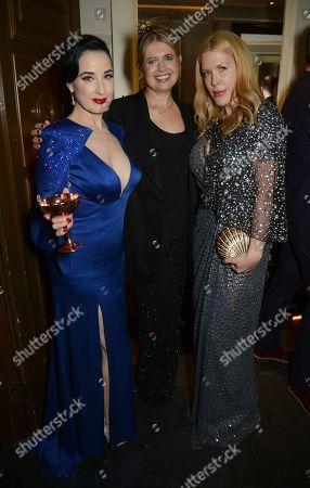 Dita Von Teese, Jenny Packham and Fiona Leahy