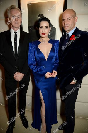 Philip Treacy, Dita Von Teese and Stefan Bartlett