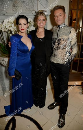 Dita Von Teese, Jenny Packham and Chris Packham