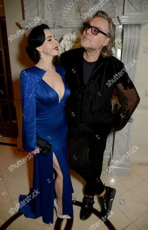 Dita Von Teese and David Downton