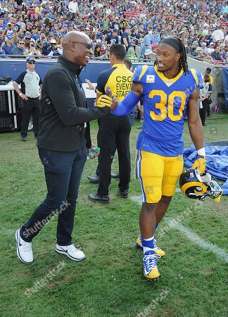 Eric Dickerson - Todd Gurley II. Los Angeles Rams running back Todd Gurley  II ... 6e19bfb13