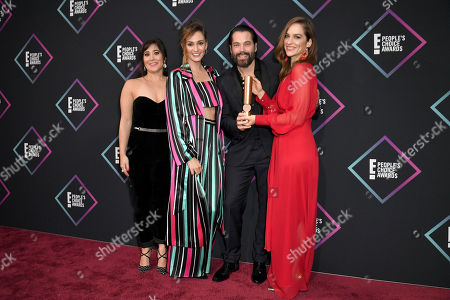 Stock Picture of Emily Andras, Melanie Scrofano, Tim Rozon and Katherine Barrell