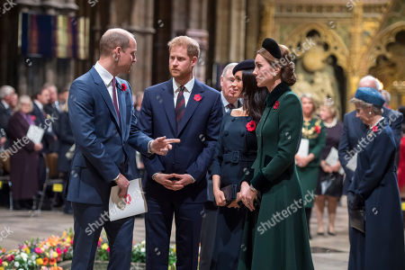 Prince William, Prince Harry, Meghan Duchess of Sussex, Catherine Duchess of Cambridge