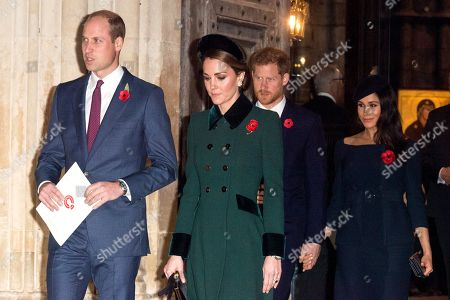 Prince William and Catherine Duchess of Cambridge, Prince Harry and Meghan Duchess of Sussex