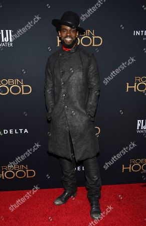 """Mustafa Shakir attends a special screening of """"Robin Hood"""" at AMC Loews Lincoln Square, in New York"""